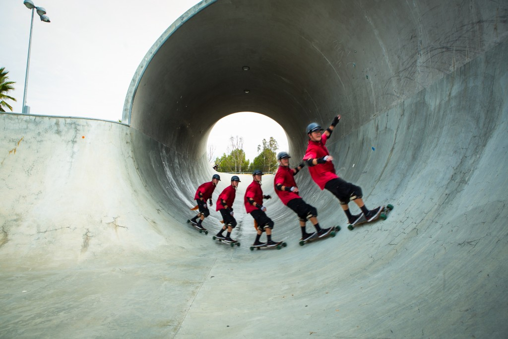 Skaten in het Skatepark De Kuil