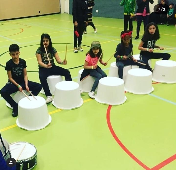 Drummen / Trommelen bij De Muziekbox
